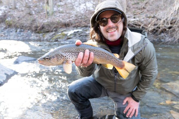 guided fly fishing pocono mountains pennsylvania guided fly fishing delaware river new york with jesse filingo (1307)