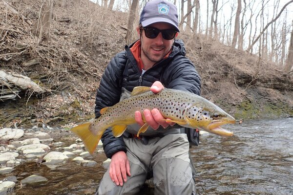 fly fishing the pocono mountains with jesse filingo of filingo fly fishing on a guided fly fishing trip to catch wild brown trout and wild brook trout and wild rainbow trout in the pocono mountains (475)
