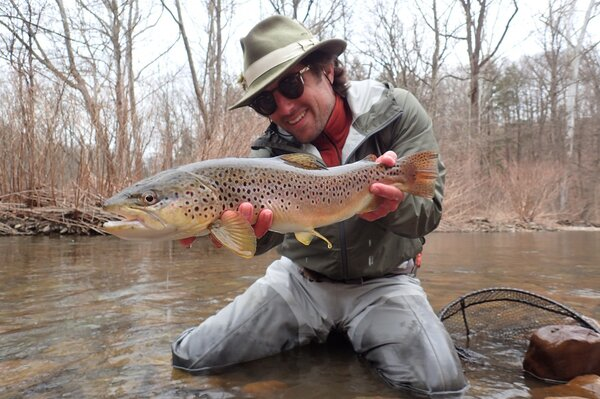 guided fly fishing big trout pocono mountains guide filingo fly fishing (1039)