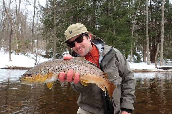wild brown trout guided fly fishing trip upper west branch delaware river (308)