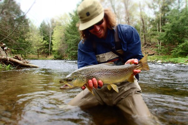 delaware river brown trout caught on a guided fly fishing trip with jesse filingo of filingo fly fishing (343)
