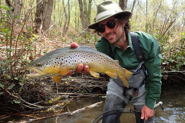 pennsylvania pocono mountains guided fly fishing tours big trout guide jesse filingo of filingo fly fishing (1111)