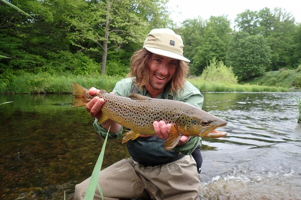 upper delaware river wild brown trout on a guided fly fishing trip with jesse filingo (367)