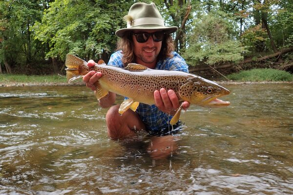 fly fishing the pocono mountains with jesse filingo of filingo fly fishing for wild brown trout (432)