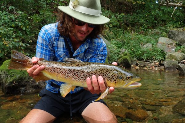 guided fly fishing trips in the pocono mountains with jesse filingo of filingo fly fishing for wild brown trout (429)