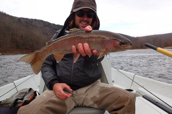 wild rainbow trout caught on the delaware river with jesse filingo of filingo fly fishing (453)