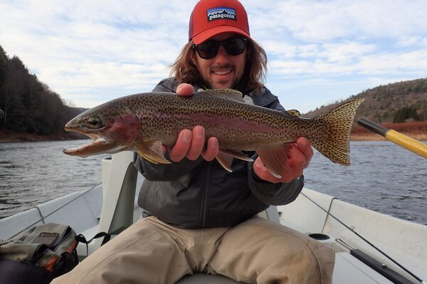 fly fishing tours on the upper delaware river with jesse filingo of filingo fly fishing for wild trout on the delaware river (452)
