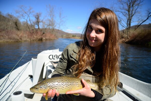 delaware river brown trout caught on a guided trip with jesse filingo on the west branch of the delaware river (326)