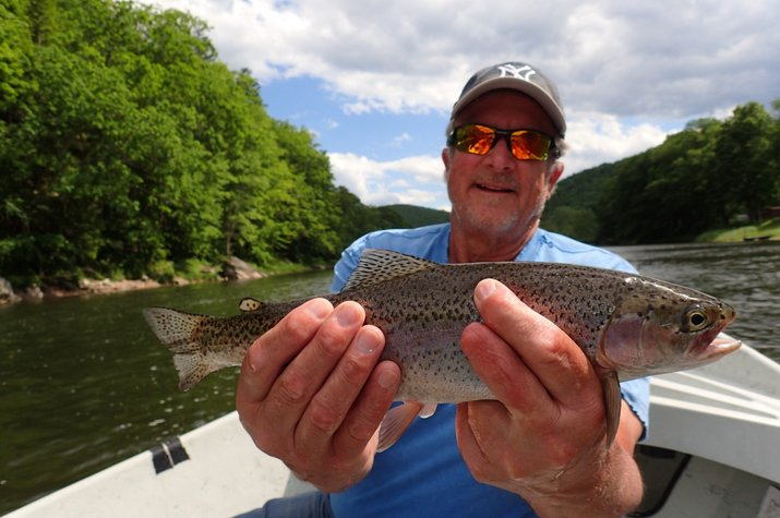 guided fly fishing float trips west branch delaware river new york and pennsylvania pocono mountains