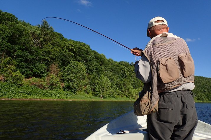 guided fly fishing float trips upper delaware river trout west branch delaware river new york