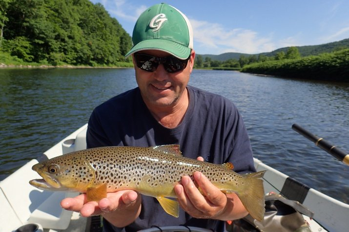 guided fly fishing new york pennsylvania delaware river brown trout