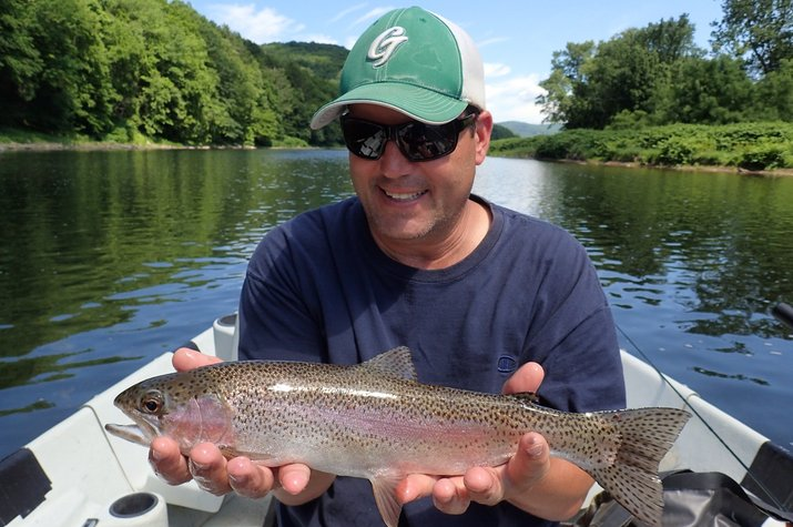 delaware river trout guided fly fishing delaware river new york pennsylvania