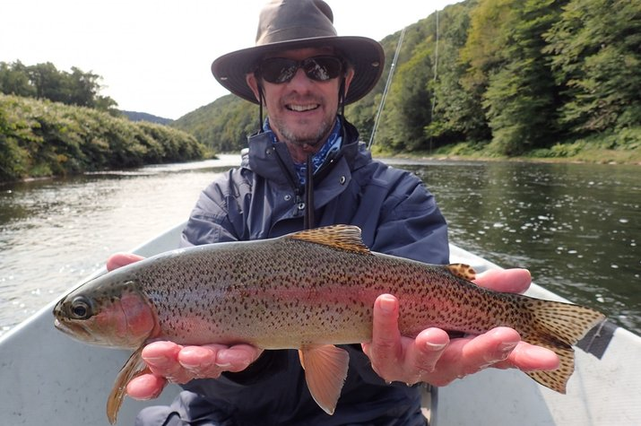 guided fly fishing float trips new york and pennslyvania delaware river west branch delaware river jesse filingo