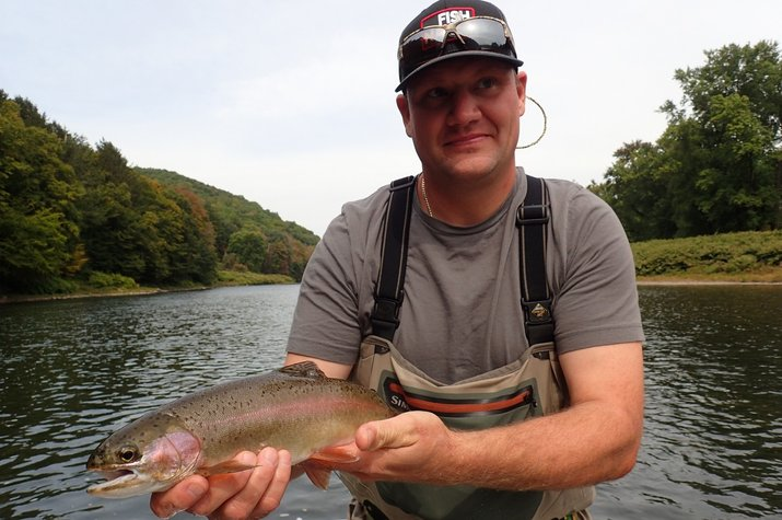 upper delaware river new york and pennsylvania guided fly fishing trips jesse filingo
