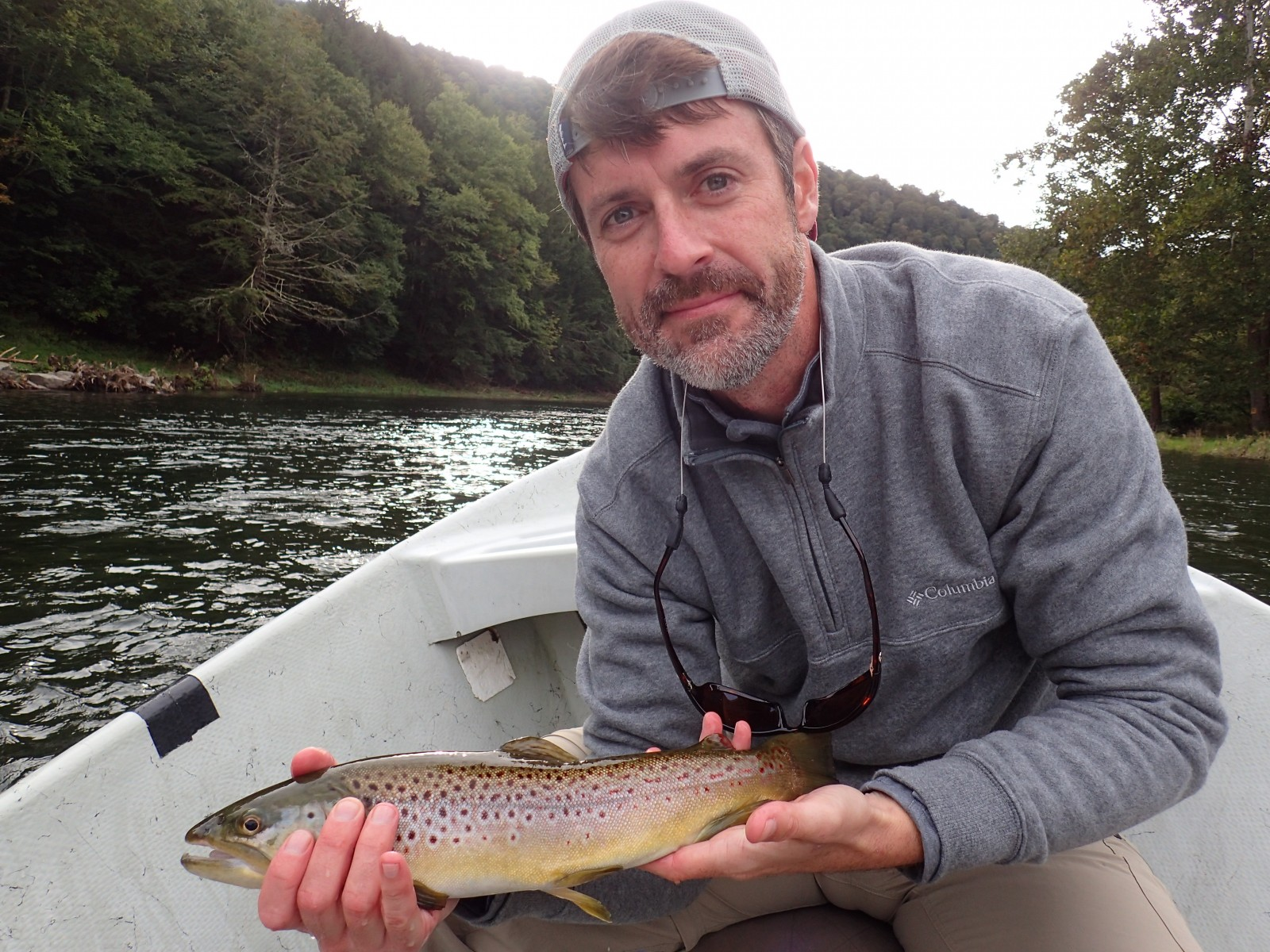 guided fly fishing tours on the west branch of the delaware river for brown trout with filingo fly fishing and jesse filingo