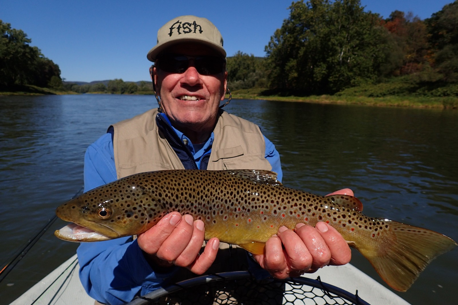 guided fly fishing float trips on the delaware river for big trout with jesse filingo of filingo fly fishing