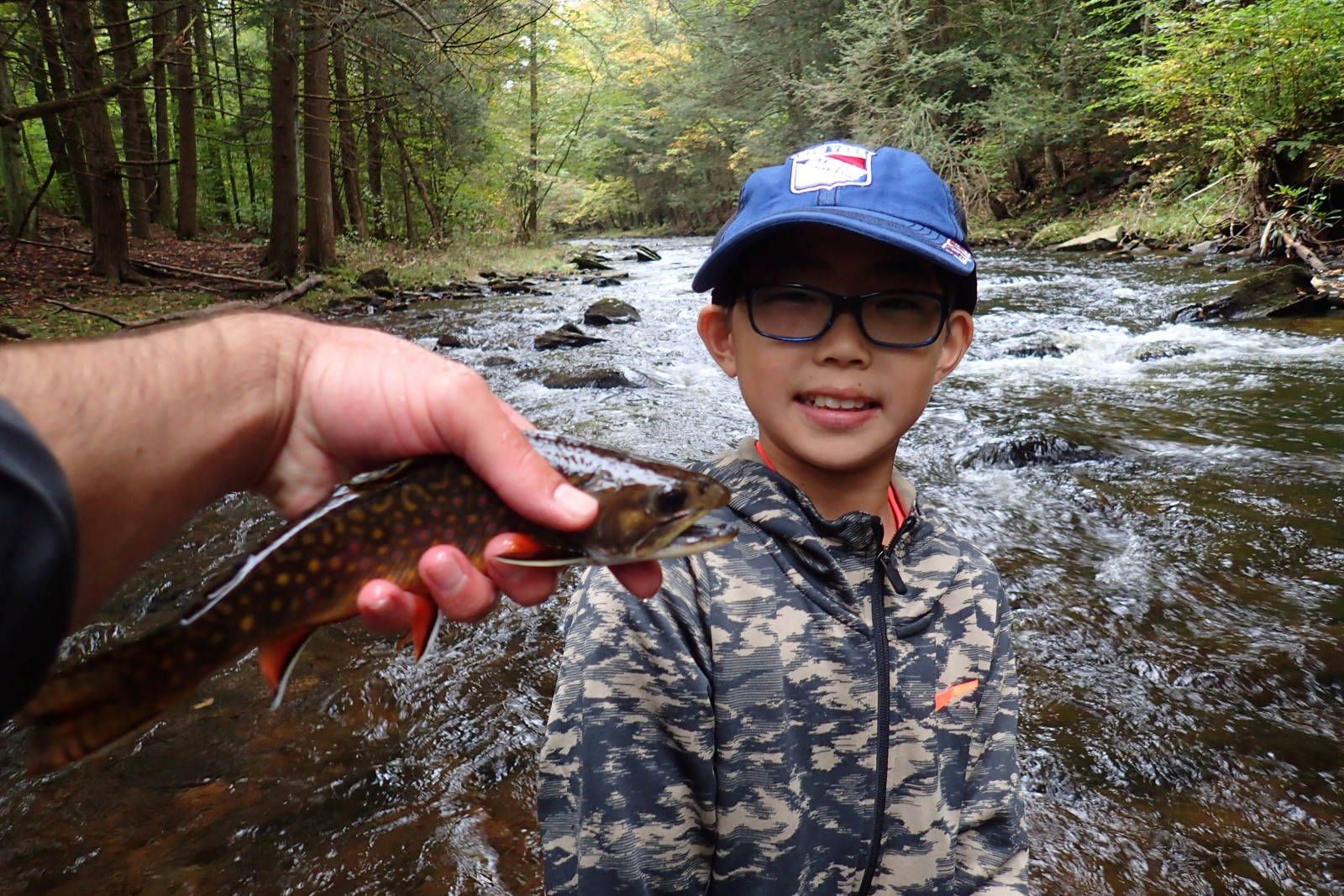 guided fly fishing trips in the pocono mountains for wild trout with filingo fly fishing