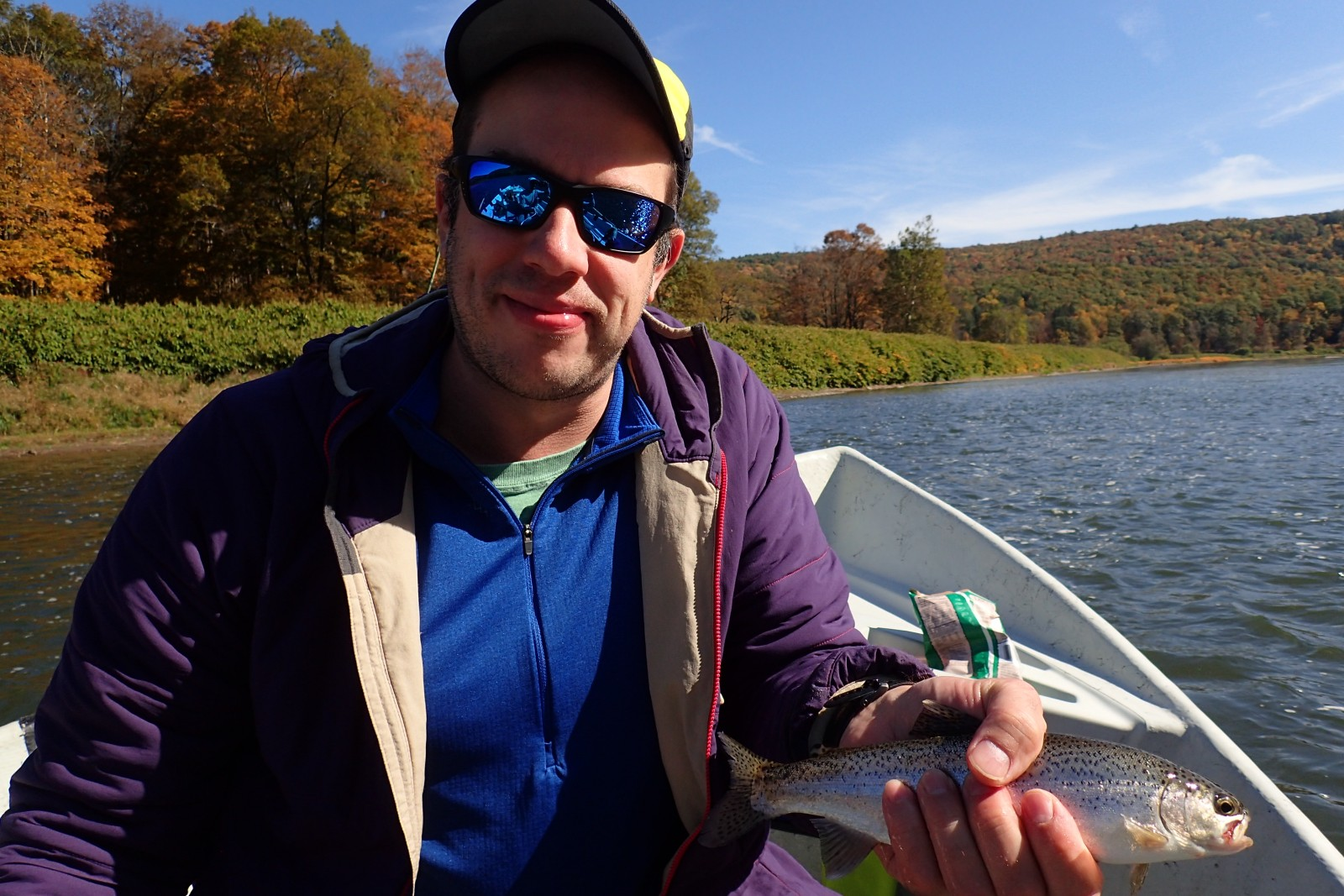 guided fly fishing tours on the delaware river for wild rainbow trout with jesse filingo of filingo fly fishing