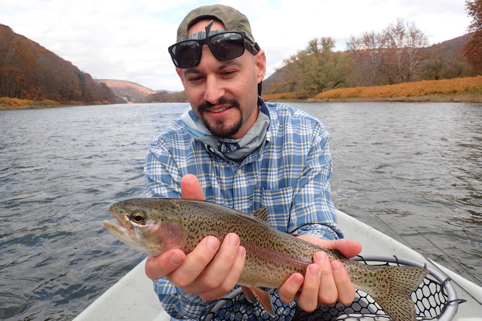 guided fly fishing float trips new york and pennsylvania upper delaware river and west branch delaware river trout jesse filingo