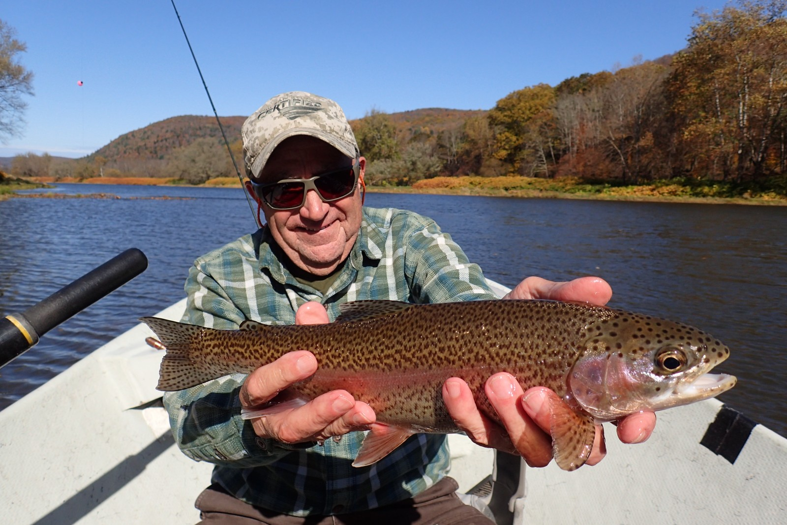 guided fly fishing tours on the delaware river for big trout with jesse filingo of filingo fly fishing