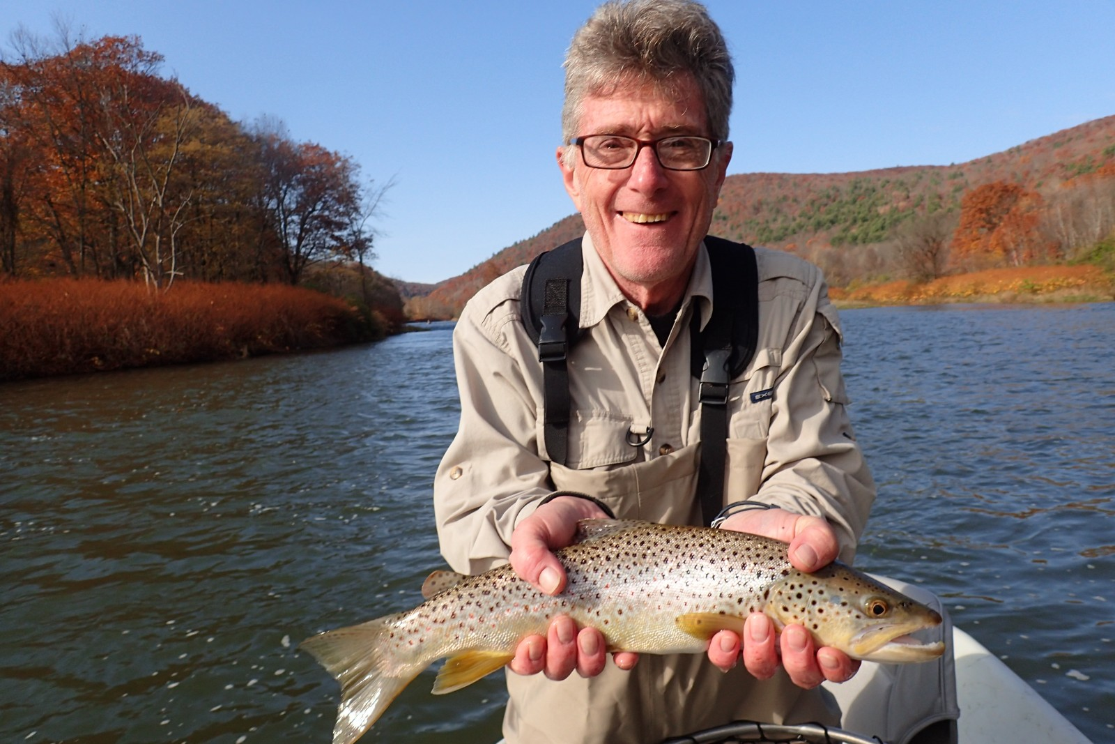 guided fly fishing west branch delaware river new york and pennsylvania pocono mountains jesse filingo