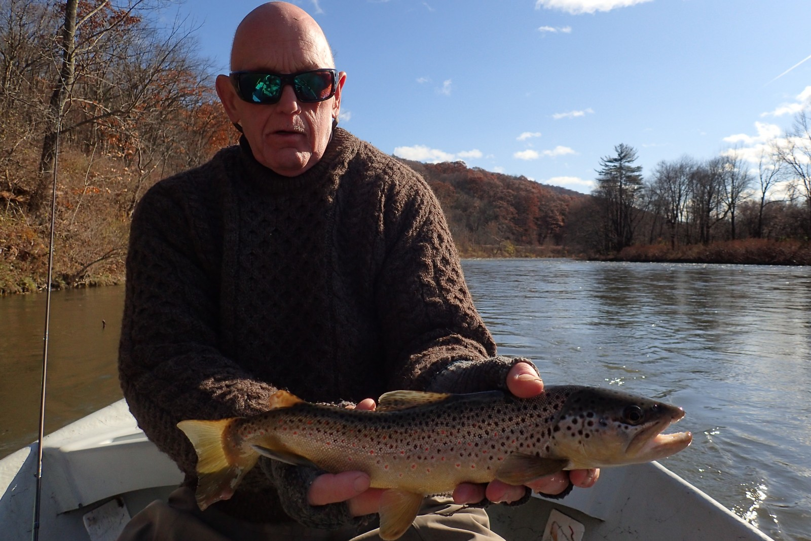 guided fly fishing float trips on the upper delaware river with jesse filingo of filingo fly fishing for wild brown trout